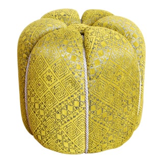 Moroccan Green Fabric Pouf