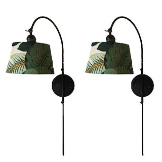 Articulating Palm Leaf Sconces - A Pair