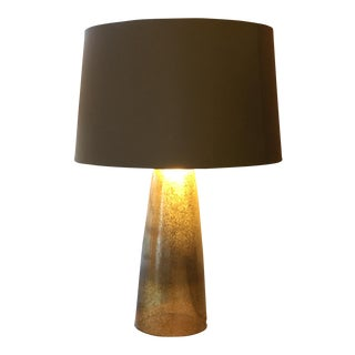 Silver & Gold Tapered Lamp