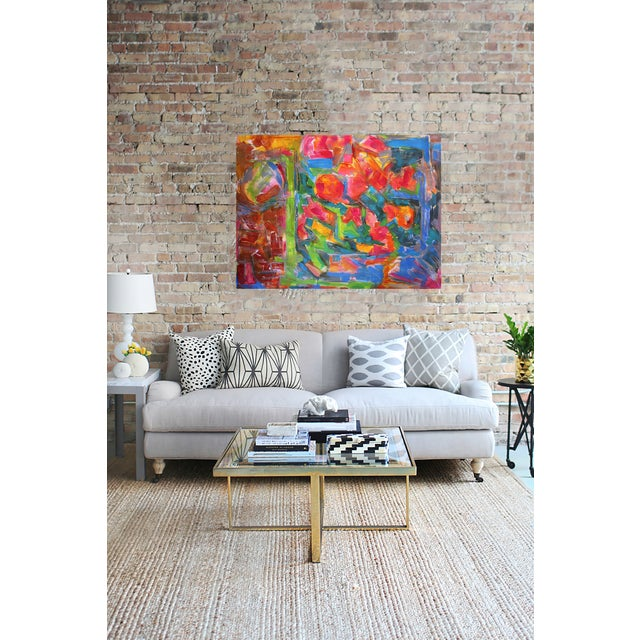 "36""x48""Abstract Original Oil Painting Trixie Pitts - Image 3 of 4"