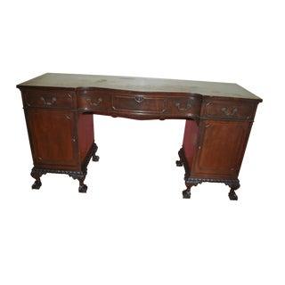 Pre-War Solid Mahogany Sideboard