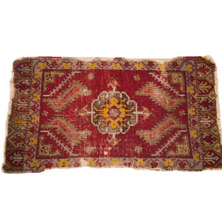 "Antique Turkish Mat - 1'7"" x 2'11"""