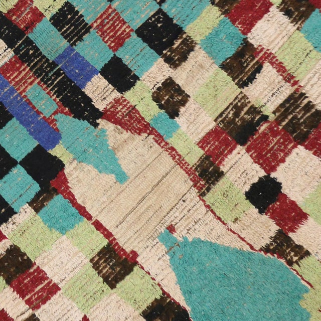 Boho Chic Vintage Berber Moroccan Rug with Modern Tribal Style, 04'05 x 07'06 - Image 6 of 9