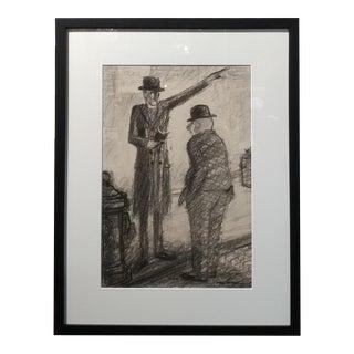 Carl Hugo Beetz -The Preacher -1930s California Regionalist Painting
