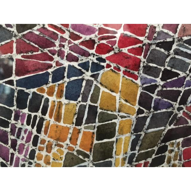 Geometric Abstract Watercolor Painting - Image 5 of 9