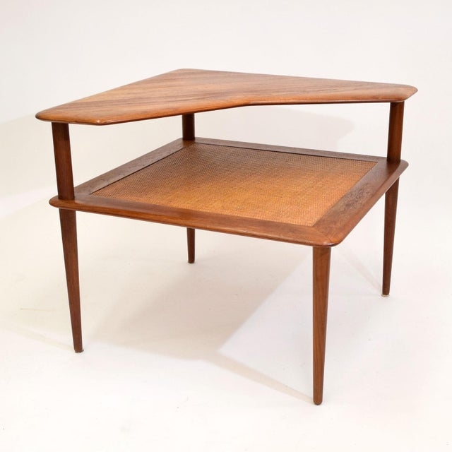 Teak and Cane Side Table by Hvidt & Mølgaard - Image 2 of 9