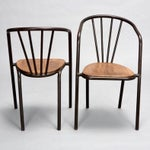 Image of Set of 6 Mid Century Metal & Wood Armchairs