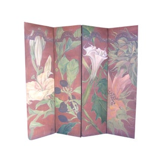 R. Kelso Botanical Hand Painted Screen
