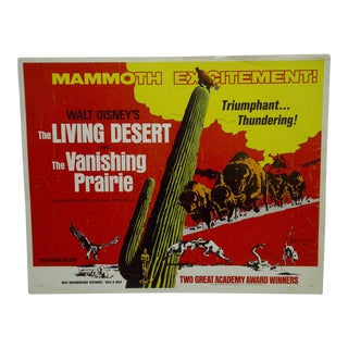 "Vintage Movie Poster Walt Disney's ""The Living Desert & the Vanishing Prairie"" 1971"