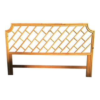 Vintage Authentic Bamboo King Headboard