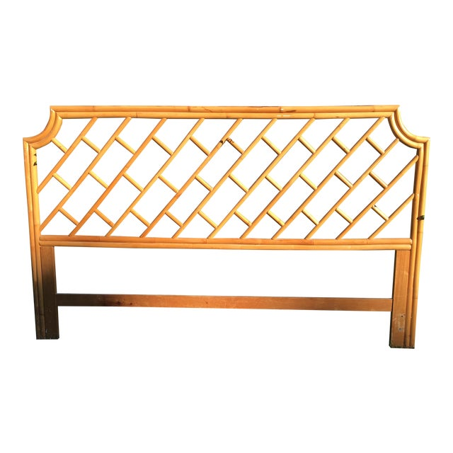 Vintage Authentic Bamboo King Headboard - Image 1 of 7