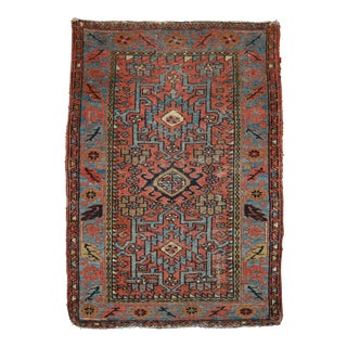 "Antique Persian Karaja Rug - 3'1"" x 4'3"""