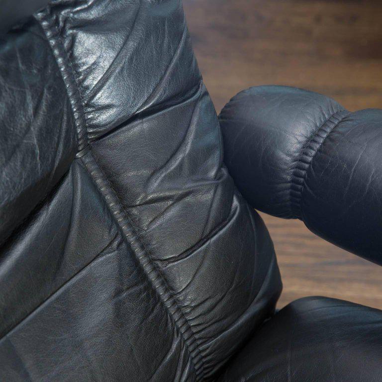 Vintage Ekornes Leather Stressless Recliner and Ottoman - Image 8 of 10 & Superior Vintage Ekornes Leather Stressless Recliner and Ottoman ... islam-shia.org