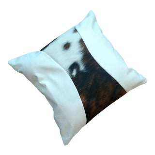 Logan Collection Leather & Cowhide Pillow