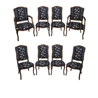 French Louis XV Style Dining Chairs- Set of 8