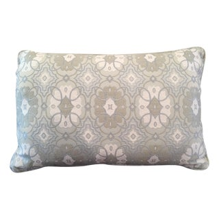 Blue Kidney-Shaped Throw Pillow