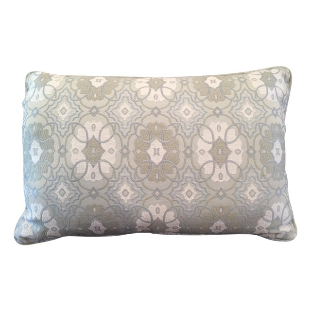Image of Blue Kidney-Shaped Throw Pillow