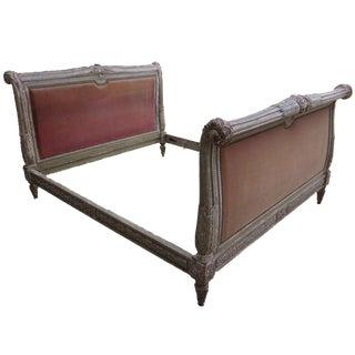 French 19th Century Louis XVI Style Painted Bed
