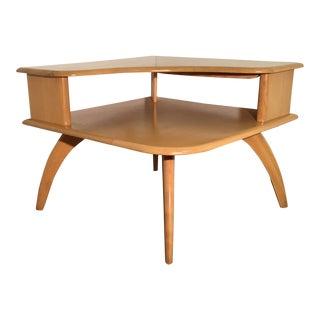 Heywood-Wakefield 2 Tier Corner Table