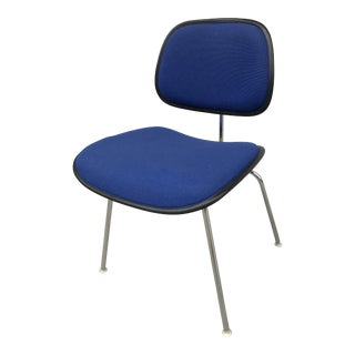 Blue Tweed Eames DCM Chair