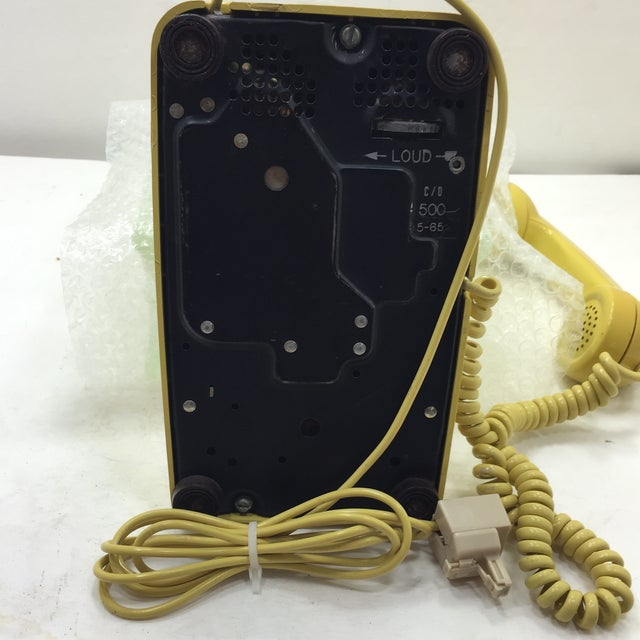 Bright Yellow Rotary Dial Telephone - Image 6 of 11