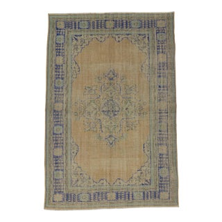 Vintage Turkish Oushak Rug - 7′11″ × 11′11″