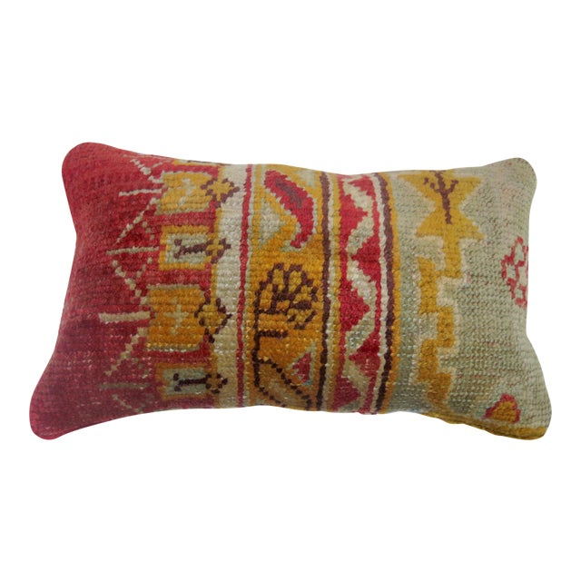 Oushak Rug Lumbar Pillow - Image 1 of 3
