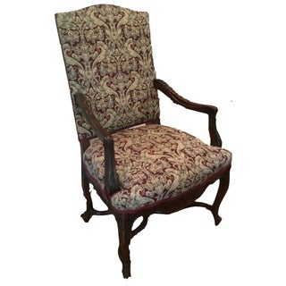 19th-Century French Tapestry ArmChair