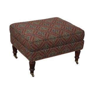 Southwood Regency Style Mahogany Frame Ottoman