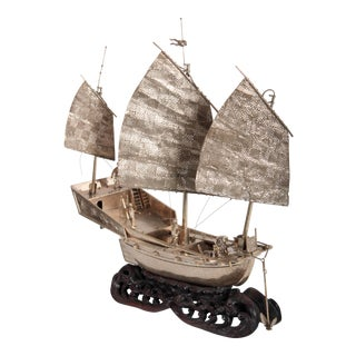 Early 1900s Chinese War Junk Ship Model