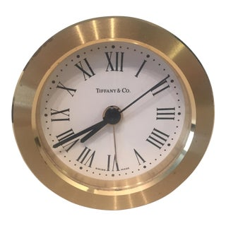 Tiffany and Co. Brass Round Alarm Clock