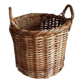 Large Natural Wood Wicker Basket