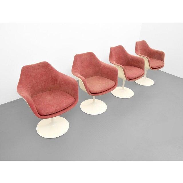 Eero Saarinen for Knoll Inc Tulip Arm Chairs, Set of 4 - Image 5 of 9
