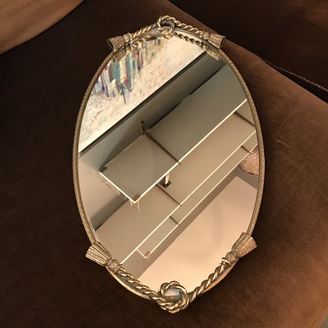 Brass Tassel Mirrored Vanity Tray - Image 2 of 6