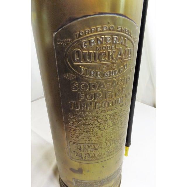 Vintage Brass Industrial Fire Extinguisher - Image 5 of 8