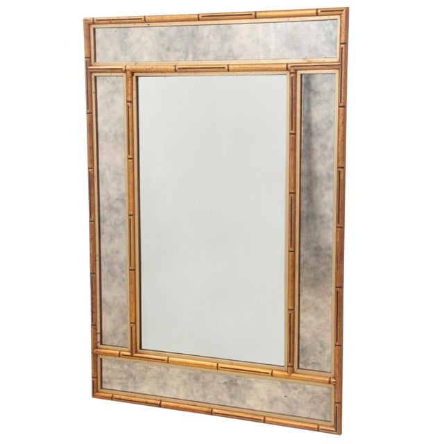 Faux Bamboo Chinoiserie Mirror - Image 1 of 7