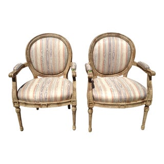 Vintage French Style Balloon Back Chairs - A Pair