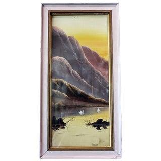 Asian Pastel Lake Scene