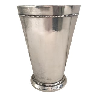 Traditional Silver-Plated Vase