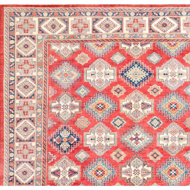 "Kazak Hand Knotted Wool Rug - 12'5"" x 15'8"" - Image 2 of 2"