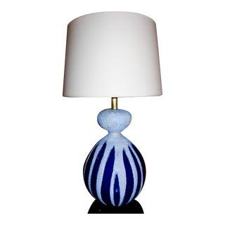 Visual Comfort Ceramic Blue Table Lamp