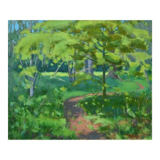 "Stephen Remick ""S-Curve by the Beech Tree"" Landscape Painting"