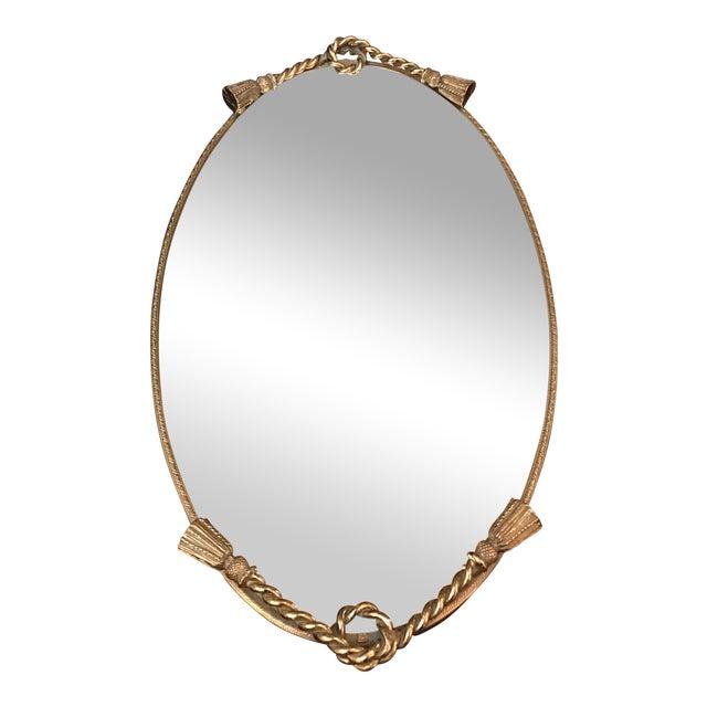 Brass Tassel Mirrored Vanity Tray - Image 1 of 6