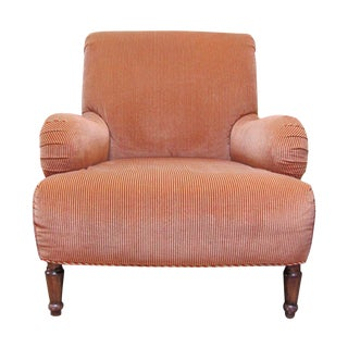 A. Rudin Velvet Stripe Lounge Chair
