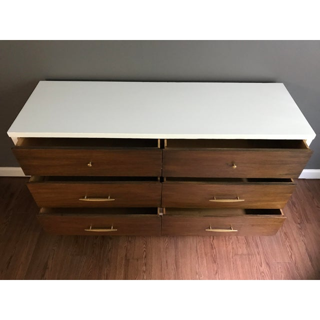 Image of Two-Tone Mid-Century Dresser