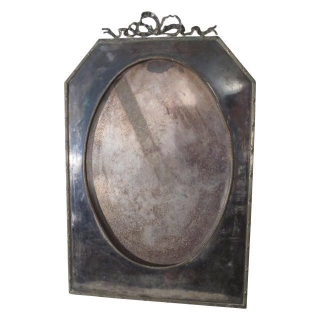 Large 19th Century Silverplate Picture Frame - Image 1 of 7
