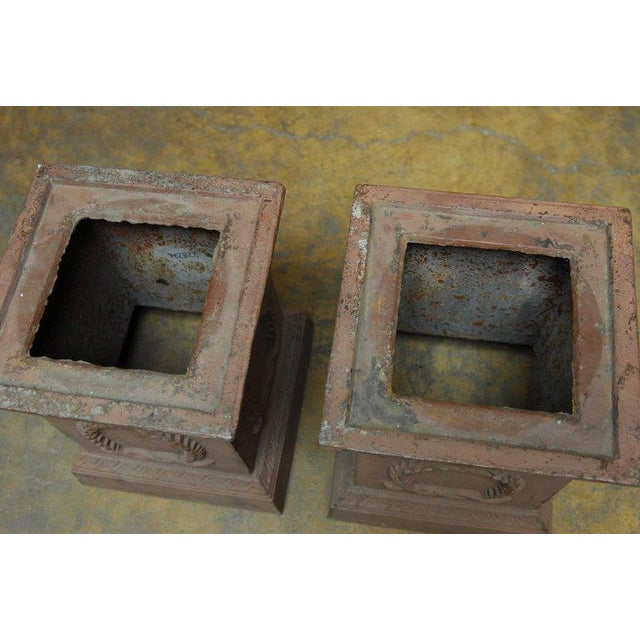 Neoclassical Cast Iron Pedestals or Urns - a Pair - Image 3 of 10