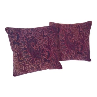 Lee Jofa Paisley Velvet Pillows - A Pair