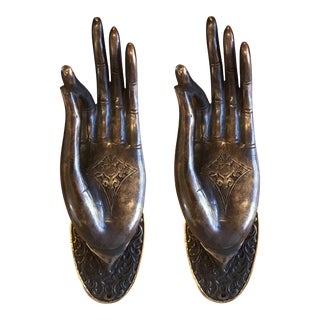 Bronze Buddha Hands - A Pair