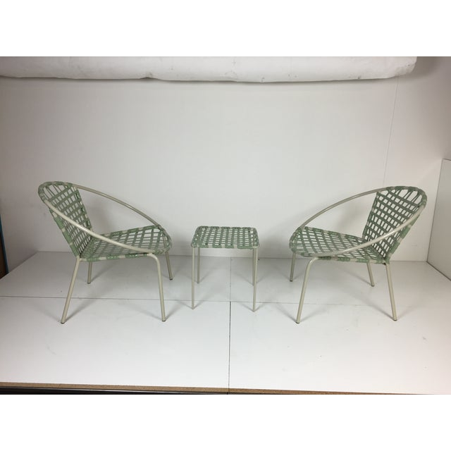 Mid-Century Green Hoop Chairs - A Pair - Image 4 of 8